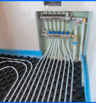 instalacion suelo radiante con valvuleria