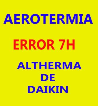 ERROR-7H ALTHERMA DE DAIKIN