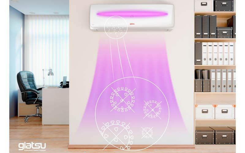 Giatsu VIOLET, el primer split de Europa con luz UV que desinfecta el aire de cualquier virus